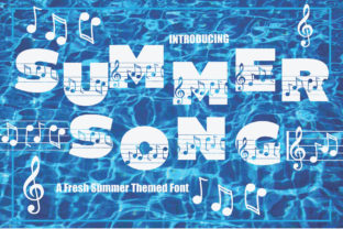 Print on Demand: Summer Song Decorative Font By KtwoP