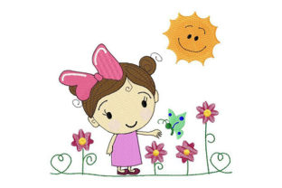 Sunny Bloomy Day Summer Embroidery Design By Dizzy Embroidery Designs