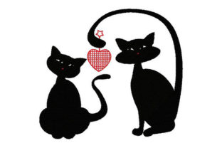 Print on Demand: Take My Kitty Heart Cats Embroidery Design By Dizzy Embroidery Designs