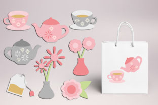 Print on Demand: Tea Party Spring Graphic Illustrations By Revidevi