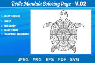 Turtles Mandala Coloring Book VOL.02 Graphic Coloring Pages & Books Adults By KDP Mastery