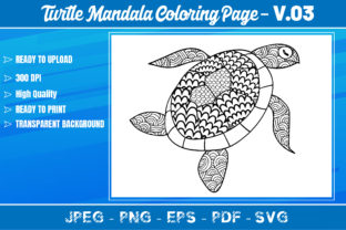 Turtles Mandala Coloring Book VOL.03 Graphic Coloring Pages & Books Adults By KDP Mastery