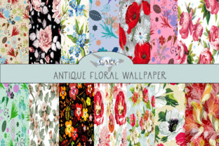 Print on Demand: Vintage Flower Collection Papers Graphic Patterns By CapeAirForce
