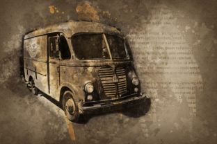 Print on Demand: Vintage Car Printables 300 Dpi Pack 45 Graphic Illustrations By The leaves river