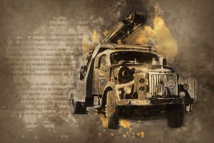Print on Demand: Vintage Car Printables 300 Dpi Pack 47 Graphic Illustrations By The leaves river