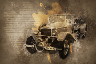 Print on Demand: Vintage Car Printables 300 Dpi Pack 48 Graphic Illustrations By The leaves river