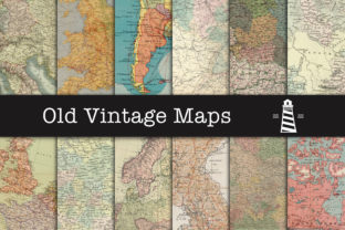 Print on Demand: Vintage Map Textures Graphic Backgrounds By northseastudio