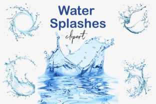 Print on Demand: Water Splash Overlays Graphic Objects By northseastudio