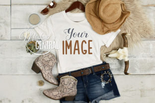 Woman's Summer Country Rustic T-Shirt Graphic Product Mockups By Mockup Central