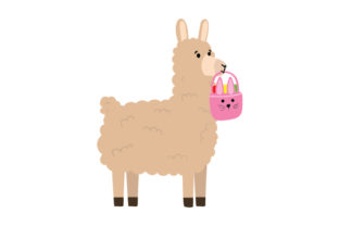 Easter Llama Easter Craft Cut File By Creative Fabrica Crafts