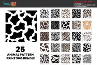 Print on Demand: 25 ANIMAL PRINT SVG , Animal Skin Bundle Graphic Crafts By FauzIDEAStudio