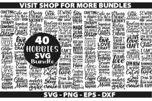 Print on Demand: 40 Hobbies Bundle Graphic Crafts By leekxstudio