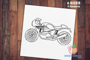 A Stylish Racer Bike Transportation Embroidery Design By embroiderydesigns101