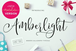 Print on Demand: Amberlight Script & Handwritten Font By getstudio