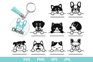 Animals Dog Keychain Graphic Crafts By MLStudio