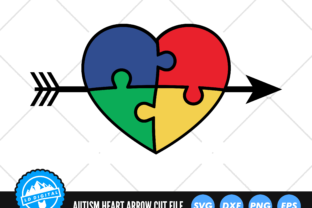 Autism Heart Arrow | Austism Awareness Graphic Crafts By lddigital