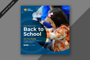 Back to School Social Media Post Banner Graphic Graphic Templates By robin0899