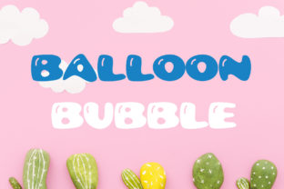 Print on Demand: Balloon Bubble Display Font By Vladimir Carrer
