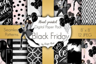 Black Friday Patterns Graphic Patterns By Tanya Kart