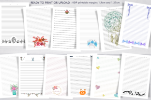 Print on Demand: Bundle 74 KDP Interiors, Lined Journals. Graphic KDP Interiors By artsbynaty 2