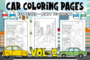 Car Coloring Page for Kids & Adult Vol-2 Graphic Coloring Pages & Books Kids By Profit creator