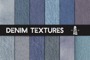 Print on Demand: Denim Textures, Jeans Backgrounds Graphic Textures By northseastudio