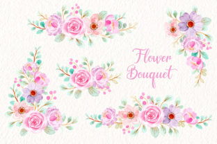 Print on Demand: Digital Clipart Floral Watercolor Part34 Graphic Illustrations By asrulaqroni
