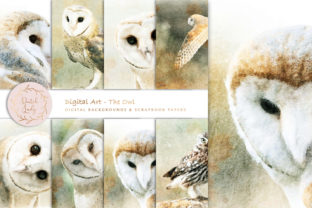 Print on Demand: Digital Paintings - the Owl Graphic Illustrations By daphnepopuliers