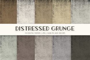 Print on Demand: Distressed Grunge Digital Paper Pack Graphic Textures By Jennadesigns