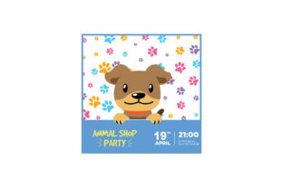 Dog Card Template Graphic Illustrations By zia studio