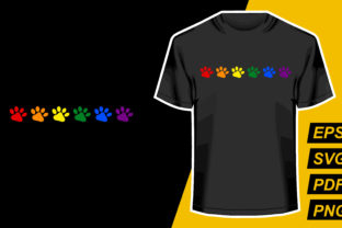 Print on Demand: Dog Paw LGBT Graphic Print Templates By mamunportfolio