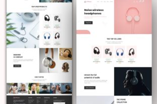 Print on Demand: Ecommerce Landing Page Template Design Graphic Landing Page Templates By themesfusion