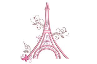 Eiffel Tower, Paris Europe Embroidery Design By Canada Crafts Studio