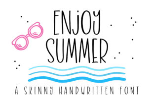 Print on Demand: Enjoy Summer Script & Handwritten Font By BitongType