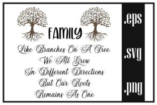 FAMILY LIKE BRANCHES on a TREE Graphic Print Templates By Creative Group