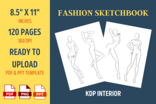 Print on Demand: Fashion Sketchbook | KDP Interior Graphic KDP Interiors By ownuniquedesign