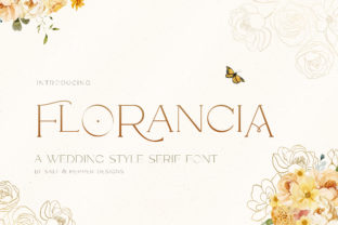 Print on Demand: Florancia Serif Font By Salt & Pepper Designs