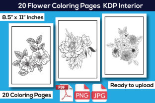 Flower Coloring Books KDP Interior Graphic Coloring Pages & Books Kids By KDP Interior 24
