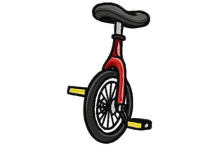 Print on Demand: Fun Circus Unicycle Circus & Clowns Embroidery Design By Dizzy Embroidery Designs