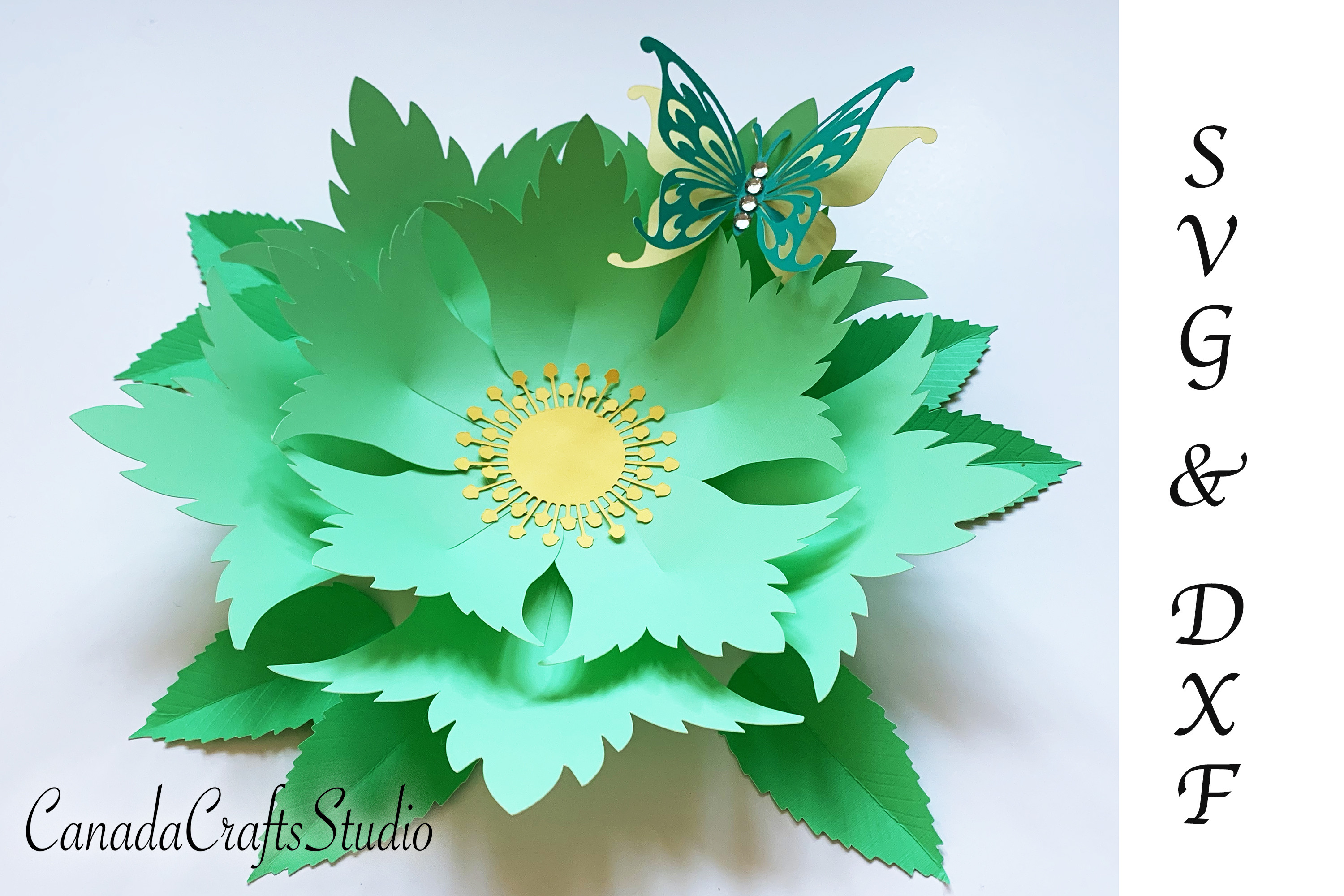 Giant Paper Flower Template SVG File