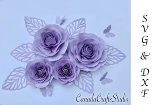 Giant Rose Paper Flower Template Graphic 3D Flowers By Canada Crafts Studio
