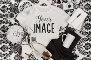 Girl's T-Shirt Fashion Apparel Mockup Graphic Product Mockups By Mockup Central