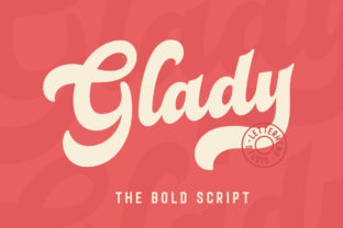 Print on Demand: Glady Script & Handwritten Font By letterhend