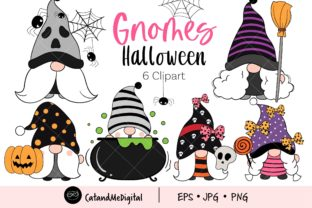 Gnome Halloween Clipart Png Graphic Illustrations By CatAndMe