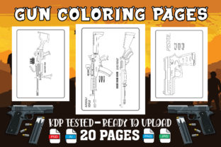 Guns Coloring Pages for Kids & Adult Graphic Coloring Pages & Books By Profit creator