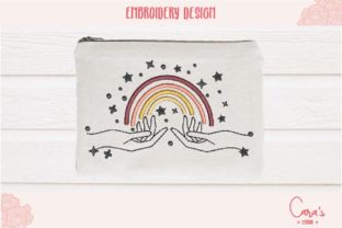 Hand Rainbow House & Home Embroidery Design By carasembor