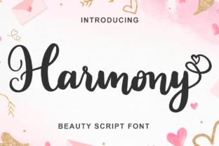 Print on Demand: Harmony Script & Handwritten Font By LetterBeary