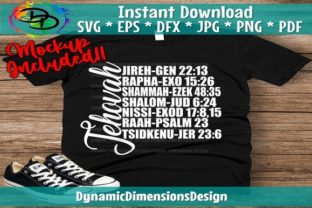 Jehovah Names and Verses Graphic Print Templates By dynamicdimensions