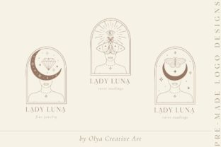 Print on Demand: Lady Luna Pre-Made Brand Logo Designs. Graphic Logos By Olya.Creative