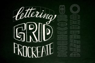 Print on Demand: Lettering Grid for Procreate Stamp Brush Graphic Brushes By Duckyjudy store